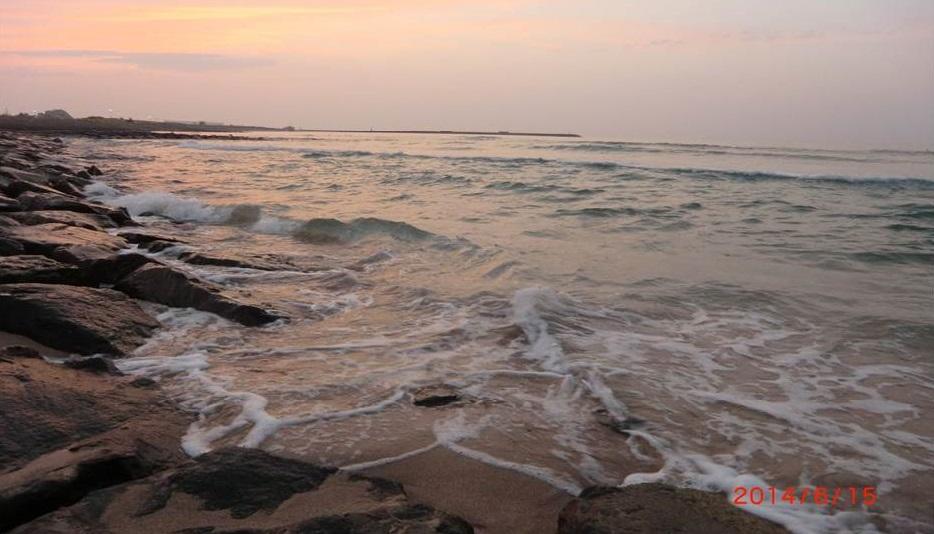 明け方の日本海海岸